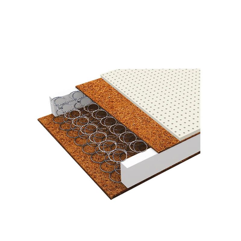 Βρεφικό Στρώμα Greco Strom ΕΚΑΤΗ με ύφασμα Αντιβακτηριδιακό Ελαστικό (66- 74x140)