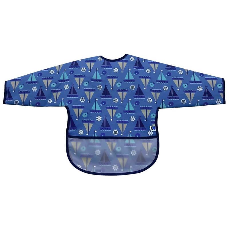 Αδιάβροχη Σαλιάρα με μανίκια Kikka boo Boats Blue