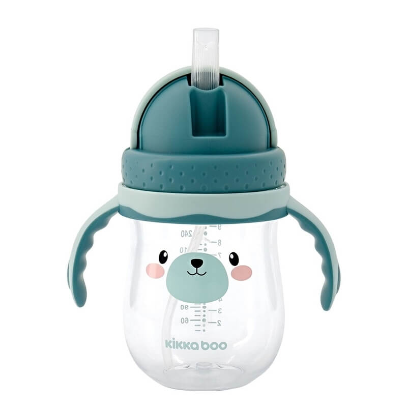 Κύπελλο με Καλαμάκι Kikka boo Tritan Sippy Cup Bear Mint 300ml
