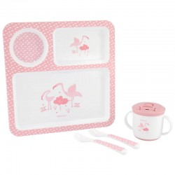 Σετ Φαγητού Kikka boo Flamingo Pink (4τμχ.)
