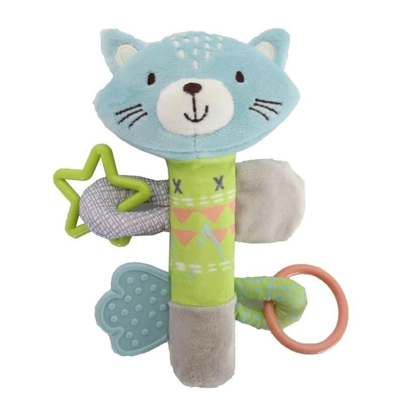Κουδουνίστρα Kikka boo Activity Squeaker Cat