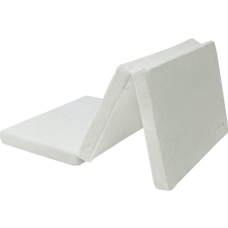 Αναδιπλούμενο Στρώμα Παρκοκρέβατου Kikka boo Velvet White (60x120x5cm)