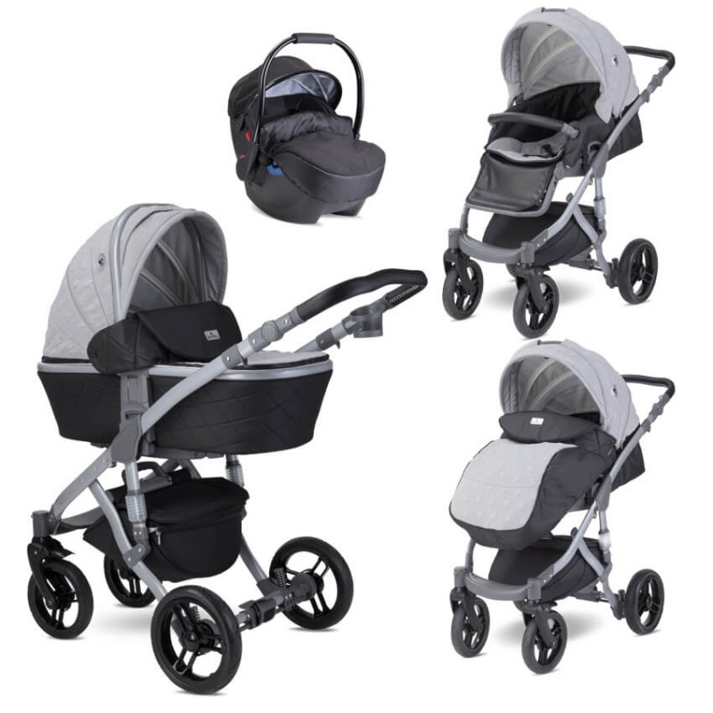 Πολυκαρότσι Lorelli Rimini Premium 3 in 1 Cool Grey Stars