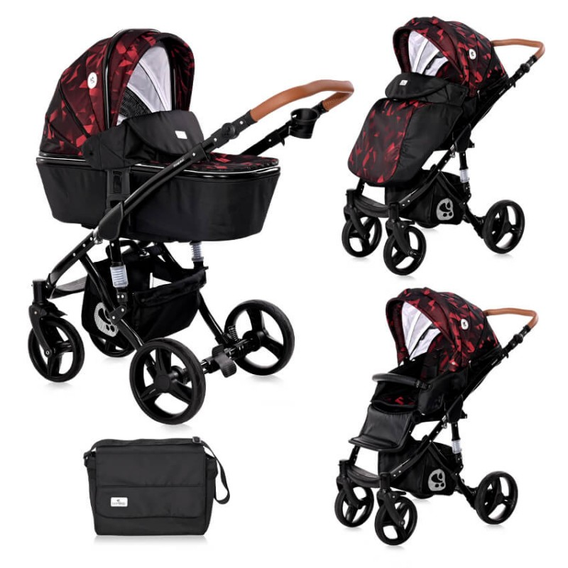 Πολυκαρότσι Lorelli Rimini 3 in 1 Ruby Red Black