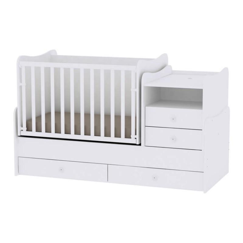 Βρεφικό πολυμορφικό κρεβάτι Lorelli Combo White