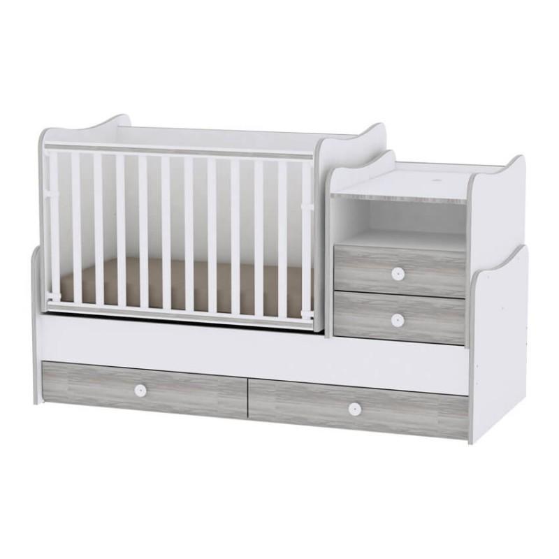 Βρεφικό πολυμορφικό κρεβάτι Lorelli Combo White Artwood
