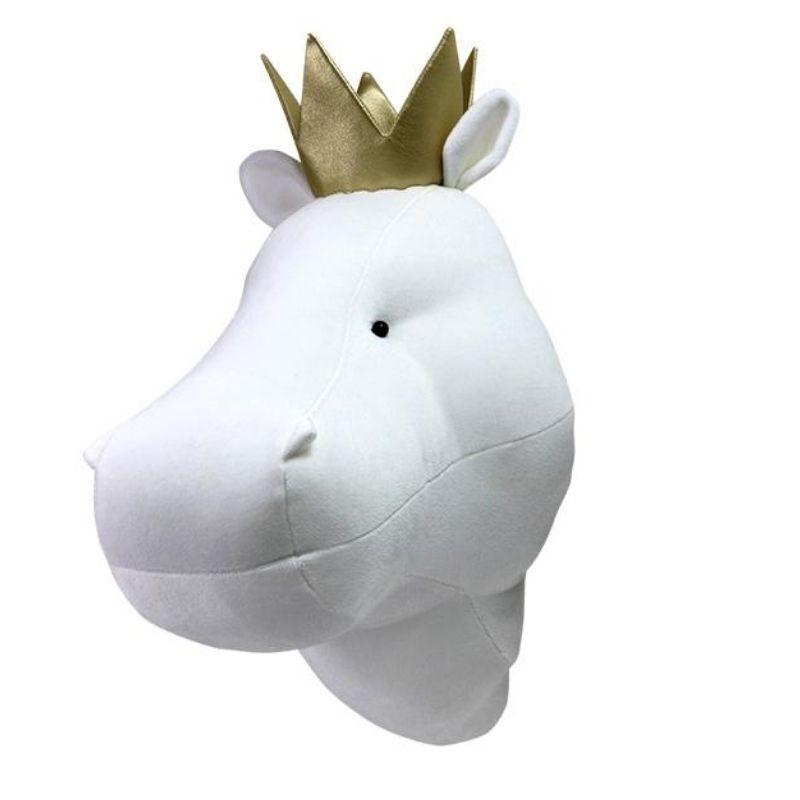 Χειροποίητο Kρεμαστό Tοίχου Love me Decoration Hippo with a Crown