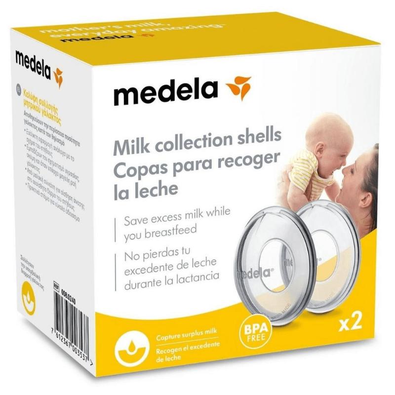 Κελύφη Συλλογής Μητρικού Γάλακτος Milk Collection Shells  Medela 2τμχ