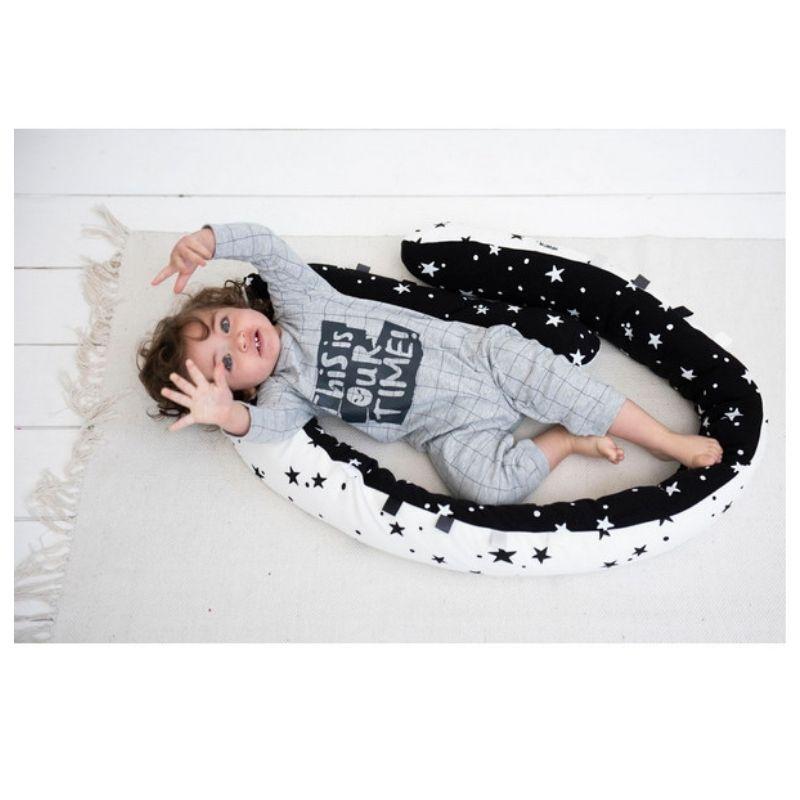 Πολυχρηστικό Μαξιλάρι Minene Snuggly Snake Cotton Black & White