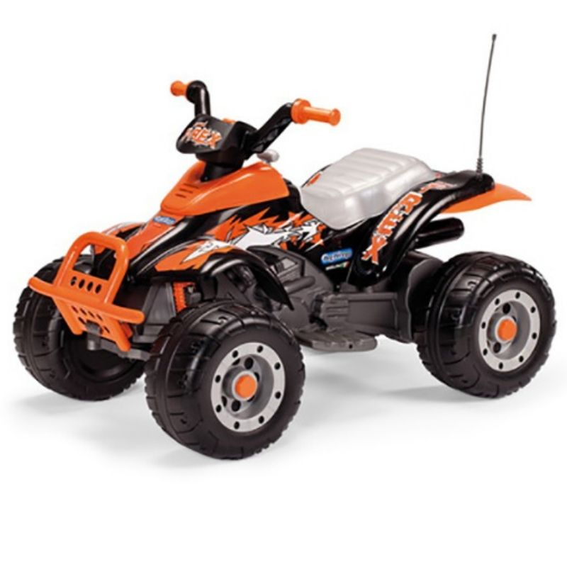 Ηλεκτροκίνητη Γουρούνα Peg Perego Corral T-Rex Black Orange