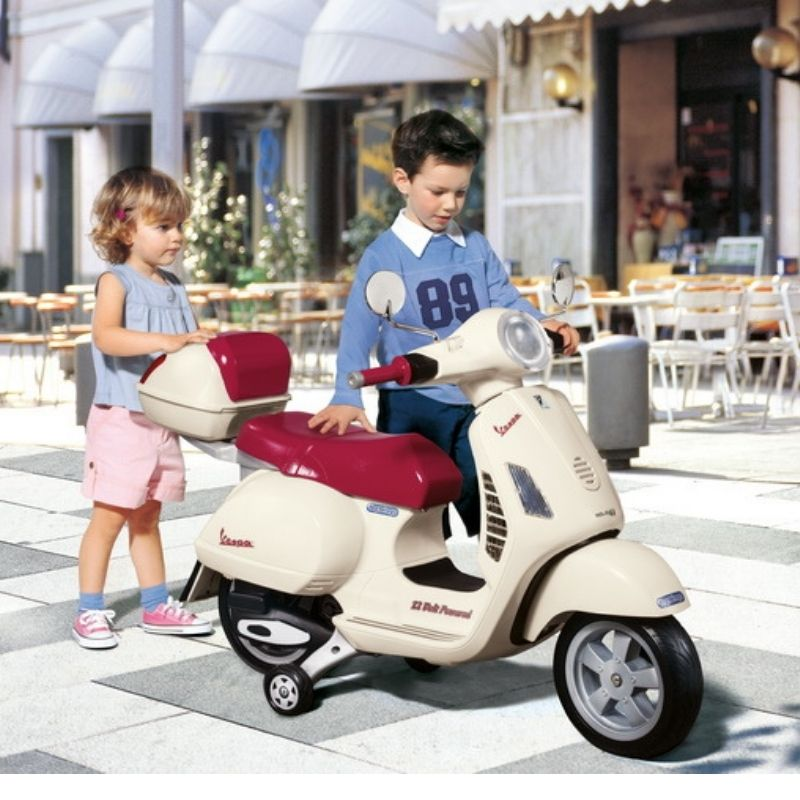 Ηλεκτροκίνητη Peg Perego Vespa 12V White With Case