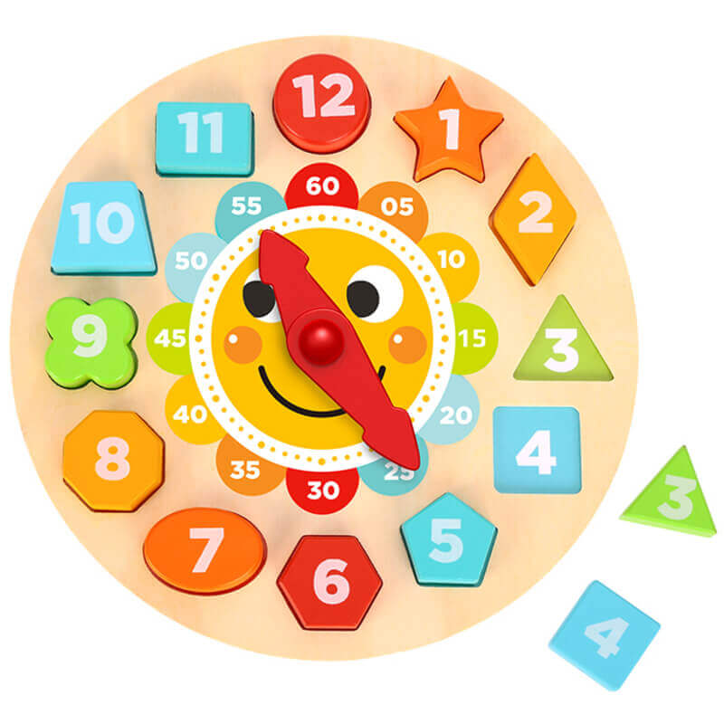 Ξύλινο Παιχνίδι Puzzle Ρολόι Tooky Toy TL675