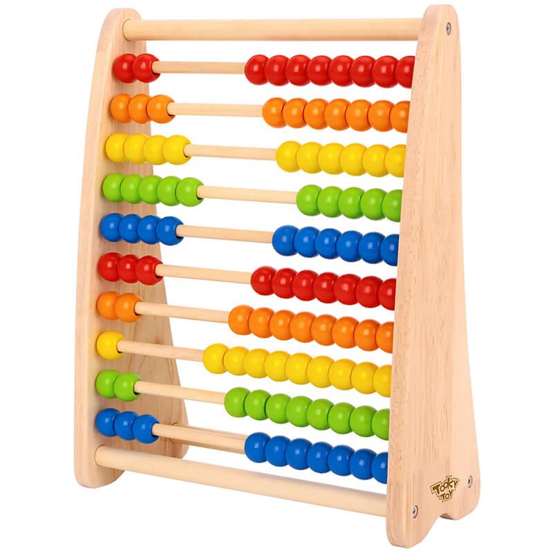 Ξύλινος Άβακας Tooky Toy TKC300A Beads Abacus