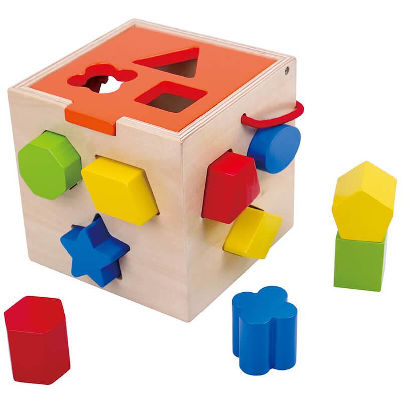 Ξύλινος Κύβος - Σφηνώματα Tooky Toy TKA977 Shape Sorter