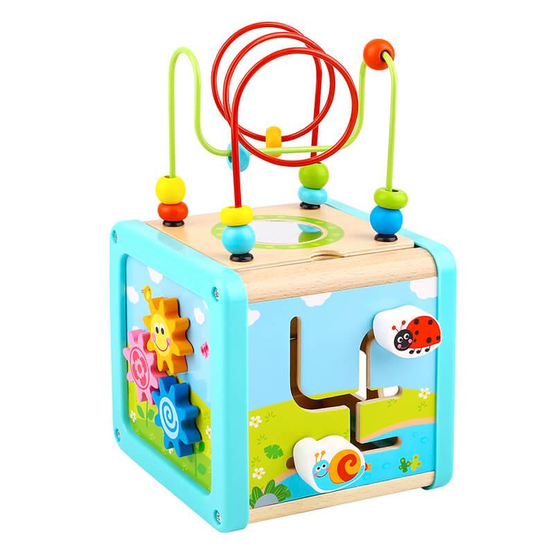Ξύλινος Κύβος Δραστηριοτήτων Tooky Toy TL088 Play Cube