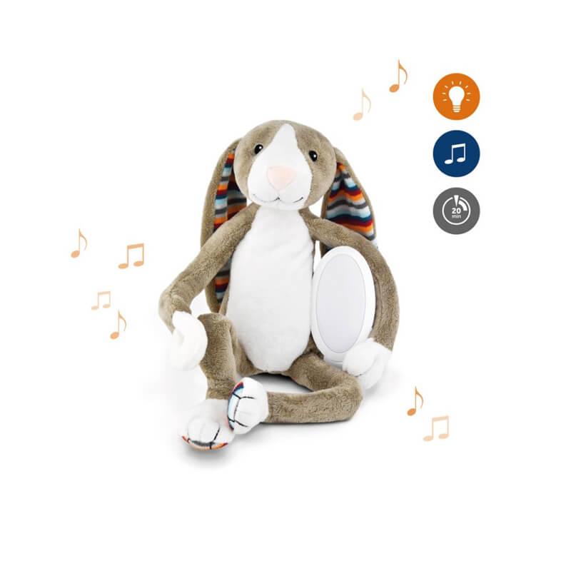 Βρεφικό φωτάκι νυχτός Λαγός με λευκό ήχο & μελωδίες ΖAZU BΟ