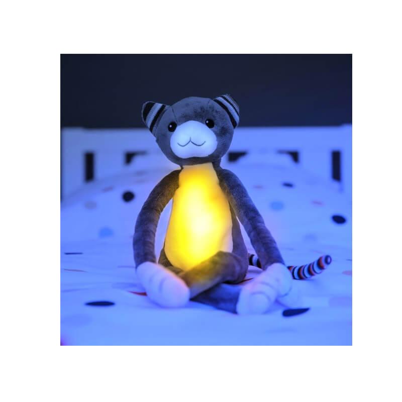 Βρεφικό φωτάκι νυχτός Γατούλα με λευκό ήχο & μελωδίες ΖAZU Katie
