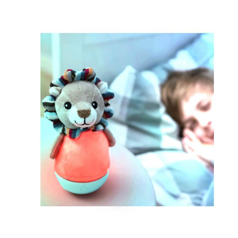 Παιδικό Φωτάκι Νύχτας Λιονταράκι Κουνιστό πολύχρωμο ZAZU Lex
