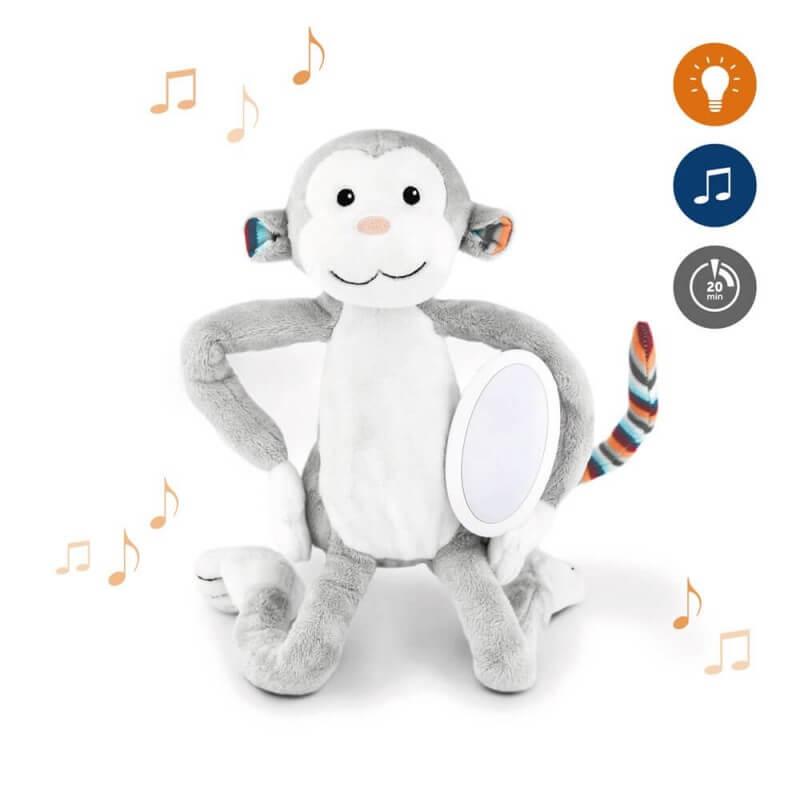 Βρεφικό φωτάκι νυχτός Μαιμουδάκι  με λευκό ήχο & μελωδίες ΖAZU Max