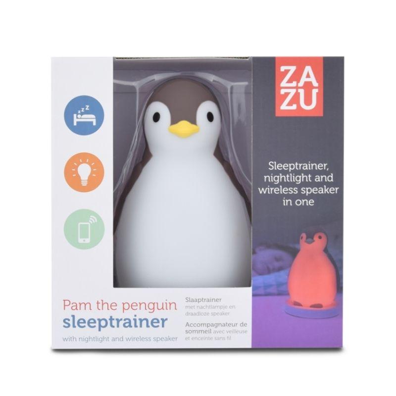 Ξυπνητήρι εκμάθησης, Bluetooth Ηχείο, φώς νυκτός ZAZU Pam πιγκουίνος Grey