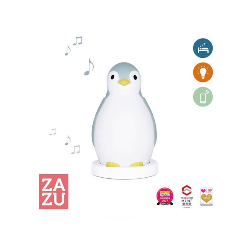 Ξυπνητήρι εκμάθησης, Bluetooth Ηχείο, φώς νυκτός ZAZU Pam πιγκουίνος Blue
