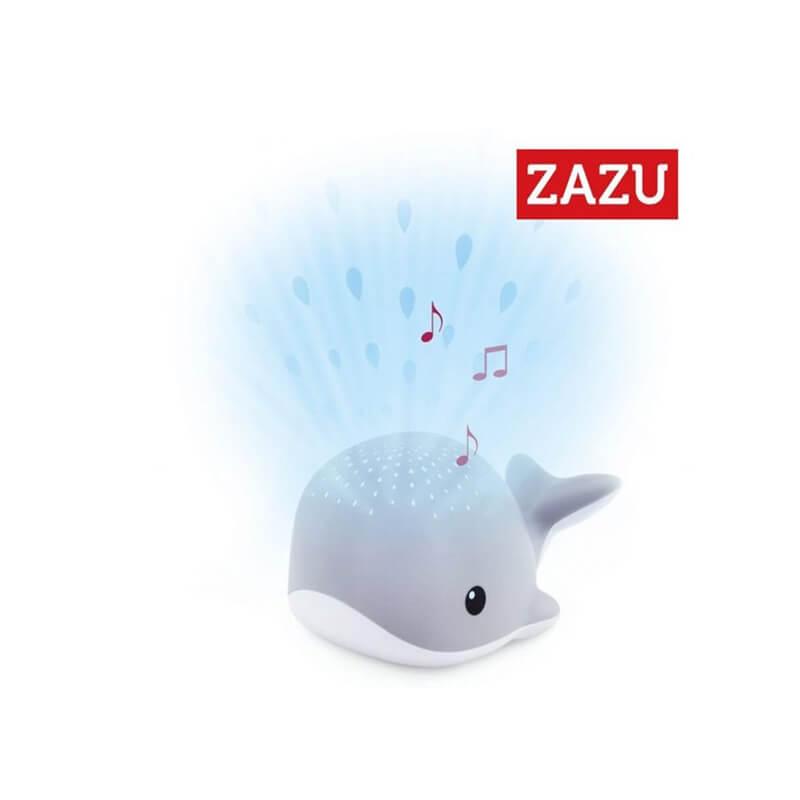 Βρεφικός προτζέκτορας φωτιστικό με λευκούς ήχους ZAZU Wally the Whale