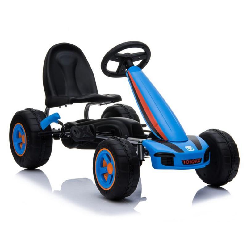 Παιδικό αυτοκινητάκι Moni με πεντάλ Go Cart Fever B005 Blue