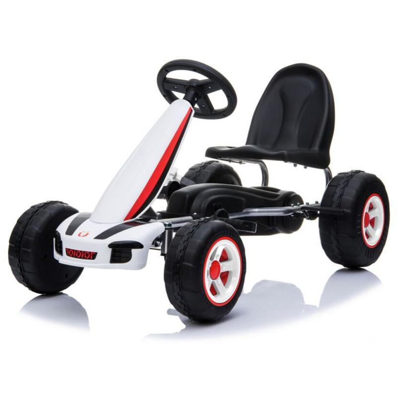 Παιδικό αυτοκινητάκι Moni με πεντάλ Go Cart Fever B005 White