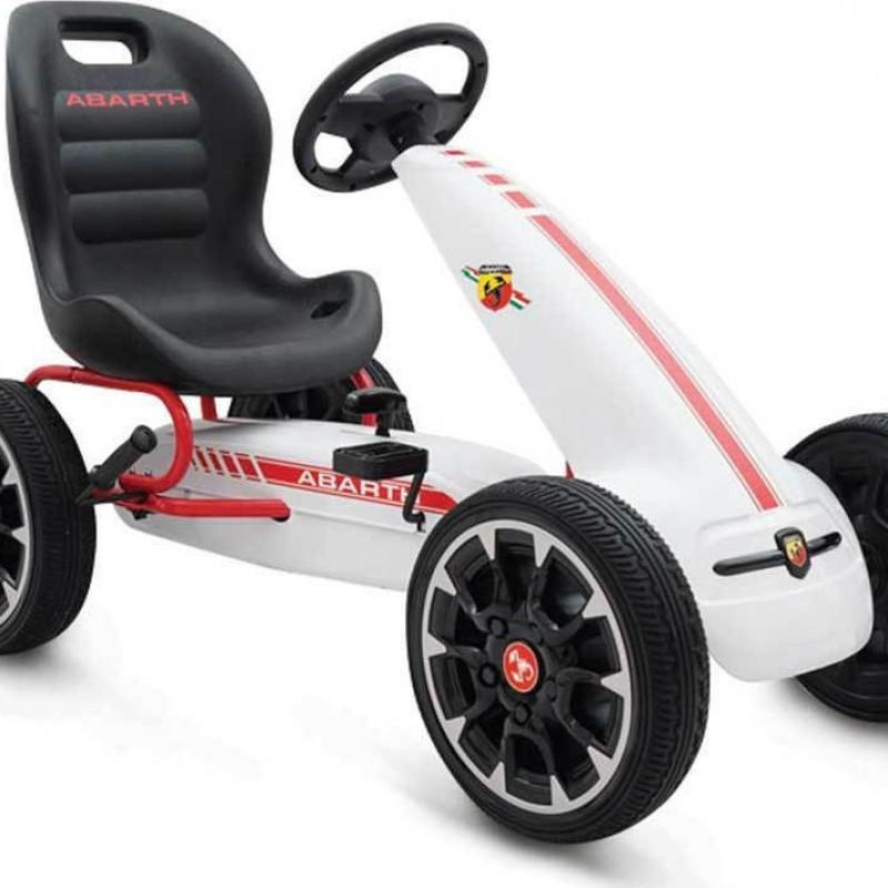 Παιδικό αυτοκινητάκι Go-cart Abarth 500 Assetto White