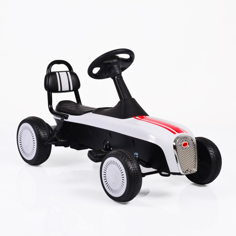 Παιδικό αυτοκινητάκι Byox με πεντάλ Karting Retro K02 White