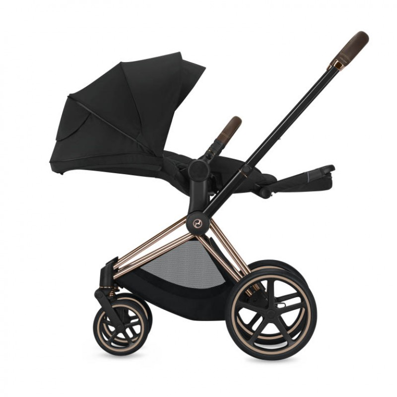 Παιδικό Kαρότσι Cybex e-Priam Deep Βlack Frame Rose Gold