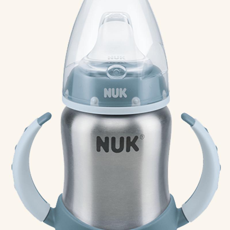 Ανοξείδωτο Μπιμπερό εκπαίδευσης NUK First Choice 125ml Blue